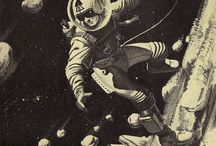spaceman / retro images of space
