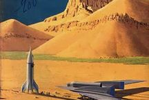 Science fiction art and vintage