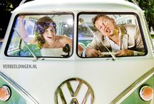 Wedding pictures / trouwfoto's Lisette and Ronald / Wedding pictures with a cute original VW bus / trouwfoto's met een leuke originele VW bus