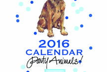 "2016 - DOG Calendar Gift Set / 2016 DOG Calendar - Gift Set  ***FREE SHIPPING thru 11/26/15   www.greyhalldesign.com Beautiful Watercolor of your favorite pups with a splash of confetti. 6""x8"" desk calendar with pretty metal stand to display right away  January: Chocolate Labrador Retriever February: Poodle March: Beagle April: Shih Tzu May: Golden Retriever June:Dalmatian July: Boxer August: French Bulldog September: King Charles Cavalier October: Dachshund November: Doberman Pinscher  December: Bull Terrier"