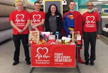 British Heart Foundation - Superhero launch / To launch our fantastic pairing with BHF during the first weekend of March, staff at our head office and those working in stores up and down the country will be donning their favourite superhero outfits and doing many heroic deeds from running raffles to cake sales in attempt to get the partnership off to a great start.