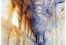 Akvarel arkitektur