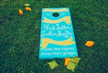 Custom Cornhole Boards / Customized cornhole boards, for a touch of fun and games at your wedding! / by Southern Weddings Magazine