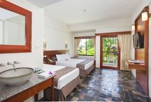 Deluxe Pool Garden View / These are the rooms decorated in tropical style. For your restful weekend you could sit by the window all day with breeze from the sea and see the spectacular scene of the ocean.