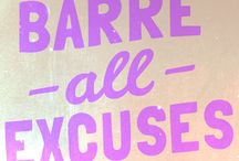 my ♥ for barre / by Kerry