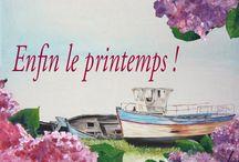 Enfin le printemps ! / Peintures sur toiles de paysages marins et printanniers.