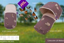 Colección Lili Malva / Esta colección con estampado de mariposas combina perfectamente con tonos crudo, chocolates y negros.