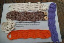 Ganchet  fet per mi. / Primeres incursions en el ganchet. (crochet)