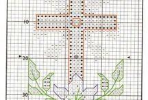 Ponto cruz Religioso