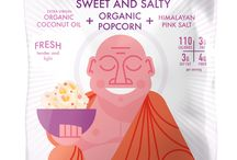Organic Popcorn / Here are our yummy Buddha Bowl organic popcorn flavors!