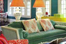I love colour interiors