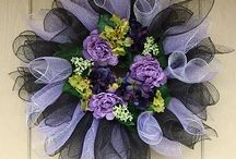 Chocolate lilac wreath