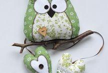 dekorace - sovy