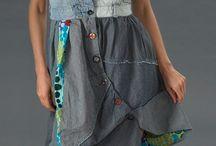jean φόρεμα