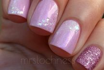 Lilac french fade nails