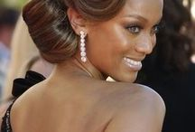 Hollywood curls hairdo