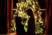 Christmas card with kids photo