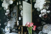 Wall Murals And Indoor plants. / Bringing outdoor elements in.