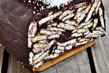 Çikolata soslu mozayık pastası