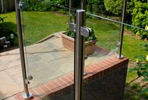 Glass Balustrade in Cwmbran / We added this stylish glass balustrade to a beautiful, two-level garden in Cwmbran, South Wales.