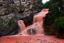Cameron Falls of Alberta, Canada