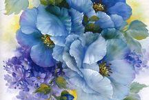 a shabby transfer floral