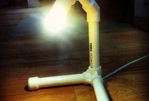 лампы из труб ПВХ