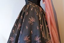 1950s gray and pink party dress