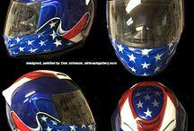 Custom Painted Motorcycle Helmets / Motorcycle helmets I've designed and custom painted