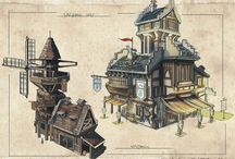Sketches, concept art, design diagrams and related / Pencil and colour sketches covering all genres, especially fantasy concepts.