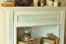 Faux Mantel Decor / Create that warm and inviting feeling in any space with a faux mantel.