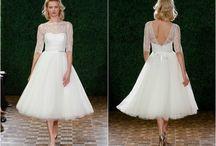 tea lenght wedding dresses