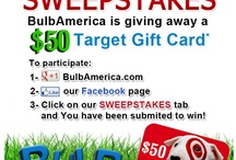 BulbAmerica Sweepstakes / 'Like' BulbAmerica on Facebook and stay tuned for coupons, sweepstakes and promotions. Also follow us on twitter, BulbAmerica.
