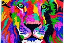 Kolorama a kaleidoscopic colouring challenge / Kolorowanka według klucza wzoru