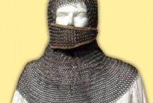 Cota de mallas. Chainmail. / Cotas de malla o anillas medievales de acero o aluminio. Aluminiom or steel ring medieval chainmail.