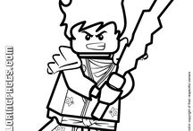 Coloriages style Lego