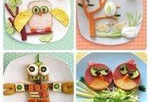 Arte com frutas e legumes
