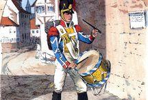 Униформа европейских армий Наполеоновской эпохи / Здесь я представлю рисунки знаменитого исследователя униформы Ричарда Кнётеля, изданные в Германии в конце XIX века и представляющие вооружение и обмундирование солдат европейских армий Наполеоновской эпохи. Уверен, что многие из тех, кто интересуется данной темой, совершат для себя немало открытий.