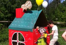 Cardboard ideas / Fun way to reuse cardboard - not just for kids