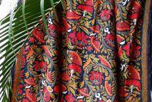KANTHA SILK SHAWL - www.vivarang.com / #kantha #silk #shawl #hand embroidery #nakshi kantha