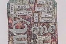 12 Tags of 2015 / A place for me to Pin the tags I make for Tim Holtz 12 Tags of 2015.