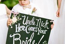 wedding- flower girls ring bearers