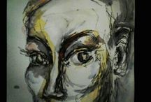 watercolour and oil