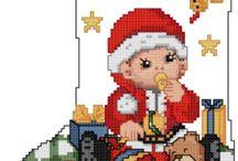 вышивка, рождественские мативы