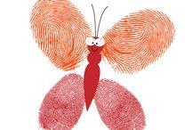 Kleuters; thema rupsen/vlinders