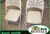 Events & Parties / Rent Chairs for your Wedding, Birthday Party, or Other Get Togethers! Call: 570-366-1071 for Prices & Details! Email: Info@arkrentals.com