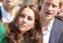 The royal trio  / Photos of Prince William, Duchess Kate and Prince Harry