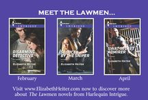 The Lawmen Series / A decade ago, violence tore apart their lives and three friends made a pact to join the FBI.   Now, the case that brought them there is back... The Lawmen series by Elizabeth Heiter. #RomanticSuspense #HarlequinIntrigue