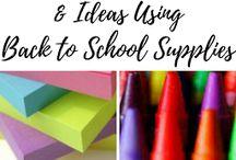 Dollar Store School Supply Craft Hacks