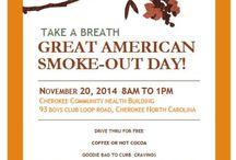 Tobacco Prevention / Tobacco education, community tobacco prevention events, quit information, etc.